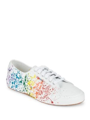 Buy Splattered Lace-Up Sneakers by Superga online