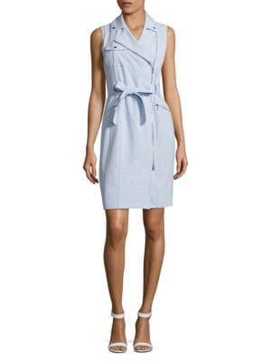 Regatta Asymmetrical Zip-Front Dress by Calvin Klein