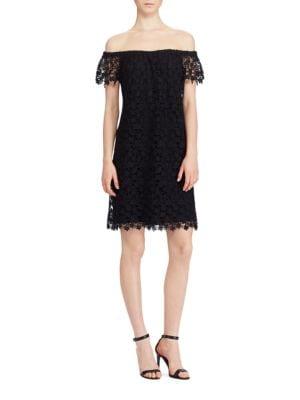 Off-the-Shoulder Scalloped Lace Dress by Lauren Ralph Lauren