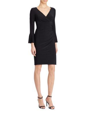 Jersey Surplice Dress by Lauren Ralph Lauren