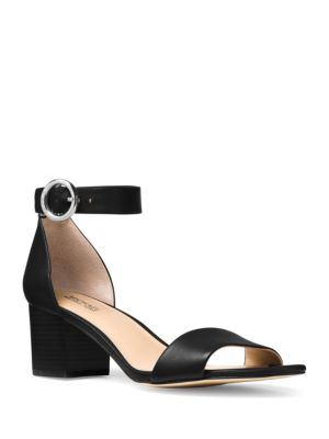 Lena Leather Ankle-Strap Sandals by MICHAEL MICHAEL KORS