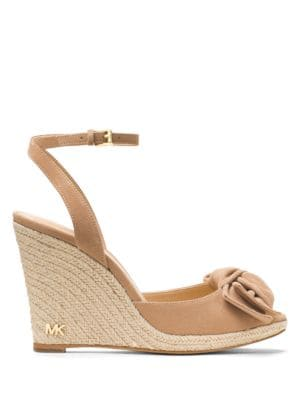 Willa Bow-Accented Wedge Sandals by MICHAEL MICHAEL KORS