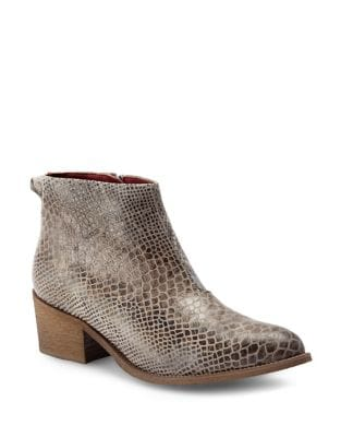 Reptile-Inspired Leather Ankle Boots by Liebeskind Berlin