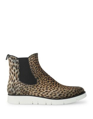 Animal Print Rubber Chelsea Boots by Liebeskind Berlin