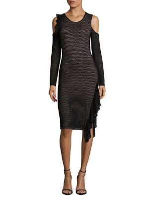 Cold-Shoulder Cutout Dress 500086973396