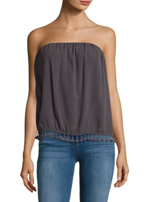 Strapless Tassel-Accented Top 500086974257