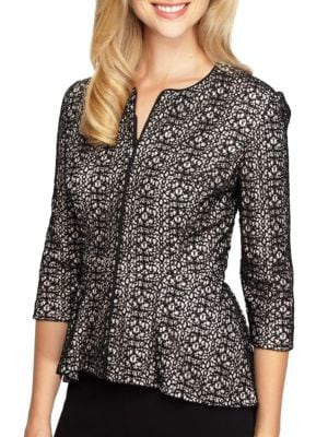 Patterned Lace Dress Jacket by Alex Evenings