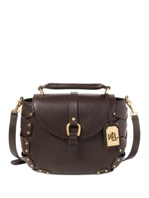 Ludwick Viana Leather Messenger Bag by Lauren Ralph Lauren