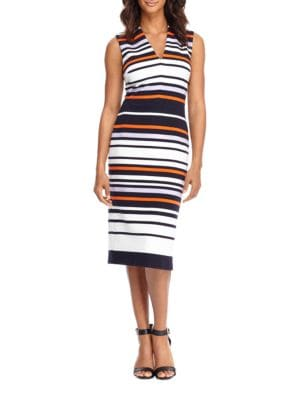 Striped Sleeveless Dress by Maggy London
