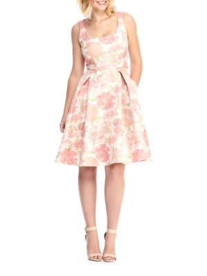 Floral-Print Sleeveless Dress by Calvin Klein
