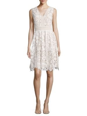 Lace V-Neck Dress by Maggy London