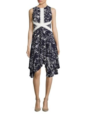 Printed Lace-Trimmed Dress by Ivanka Trump
