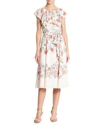 Ruffled Floral Dress by Ivanka Trump