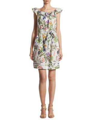 Floral Belted Off-the-Shoulder Dress by Ivanka Trump