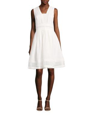 A-Line Eyelet Dress by Ellen Tracy
