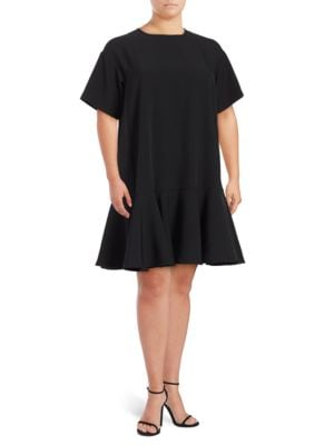 Solid Stretch Crepe Shift Dress by Adrianna Papell