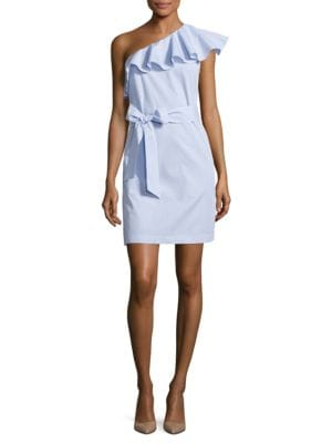 Ruffled One-Shoulder Dress by Donna Morgan