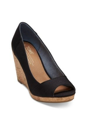 Stella Denim Wedge Shoes by TOMS