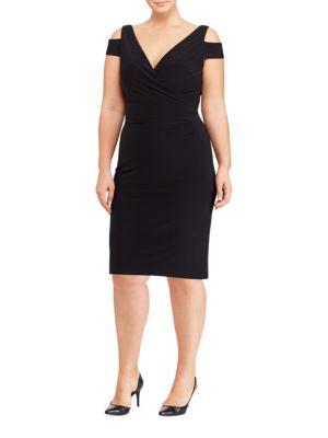 Cutout-Shoulder Jersey Dress by Lauren Ralph Lauren