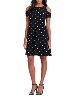 Dotted Stretch Jersey Dress by Lauren Ralph Lauren
