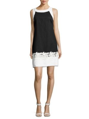 Contrast-Applique Dress by Eliza J
