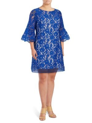 Lace Bell-Sleeved Dress by Eliza J
