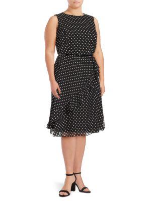 Polka Dot Sleeveless Dress by Eliza J