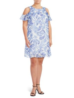 Paisley Cold-Shoulder Dress by Eliza J
