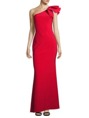 Embellished One Shoulder Gown by Betsy & Adam