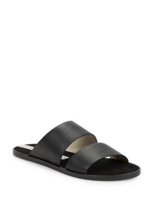 Havana Leather Slide Sandals by Matt Bernson