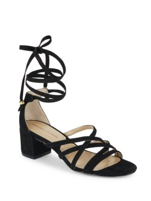 Alesia Crisscross Suede Sandals by Adrienne Vittadini