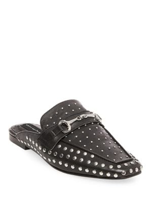 Razzi Studded Leather Slides by Steven by Steve Madden