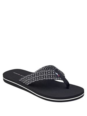 Ceaweed Anchor Flip Flops by Tommy Hilfiger