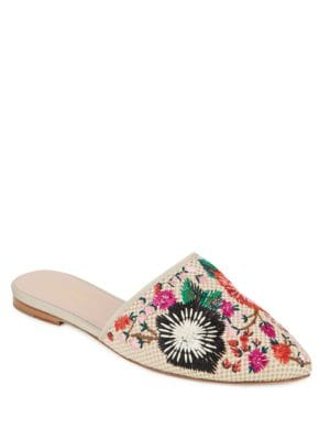 Monteclair Embroidered Canvas Mules by Kate Spade New York
