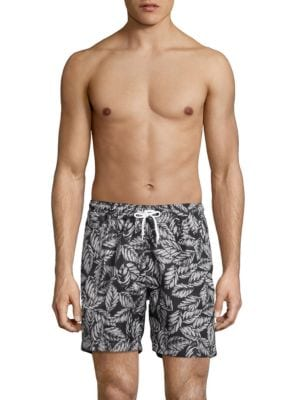 Foliage-Print Swim Trunks by Trunks Surf + Swim