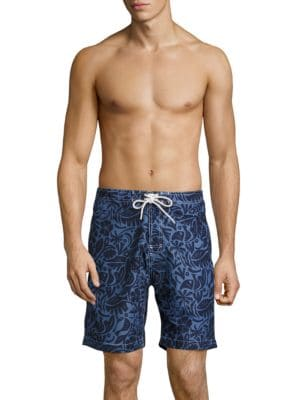 Swami Printed Grip-Tape Swim Shorts by Trunks Surf + Swim