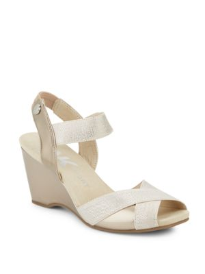 Wilamina Wedge Sandals by Anne Klein