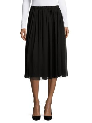 Pleated Zipped Skirt by Alex Evenings