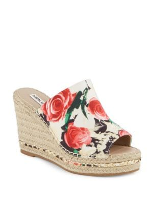 Carina Leather Espadrille Wedges by Karl Lagerfeld Paris
