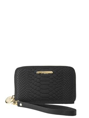 Python Embossed Leather Zipped Phone Wallet 500086988398