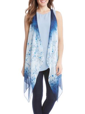 Ombre Floral Vest by Karen Kane