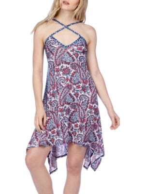 Crisscross Mixed Pattern Dress by Lucky Brand