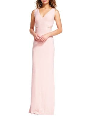 Sleeveless Embellished Jersey Gown by Adrianna Papell