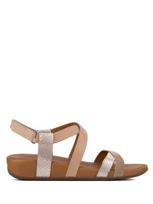 Lumy Open Toe Suede Sandals by FitFlop