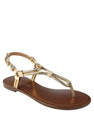 Ashanti Leather Flat Sandals by Ivanka Trump