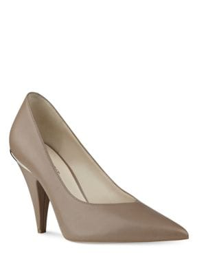 Whistles Point Toe Leather Pumps by Nine West