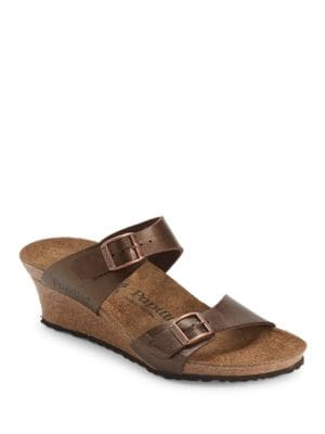 Dorothy Graceful Leather Wedge Sandals by Birkenstock