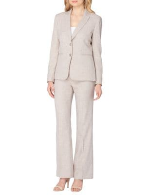Two-Piece Notch Collar Jacket and Pant Suit by Tahari Arthur S. Levine