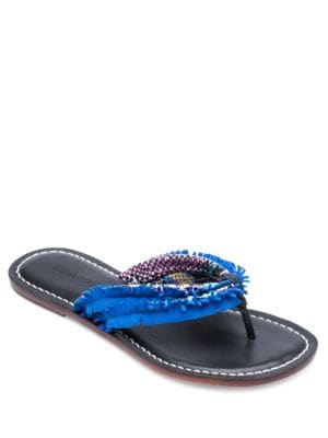 Miami Fringe Leather and Suede Sandals by Bernardo