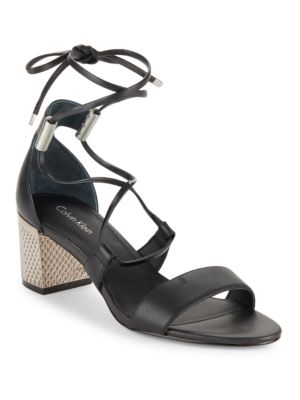 Natania Leather Sandals by Calvin Klein